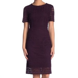 *NWT* Tahari Lace Short Sleeve Sheath Dress
